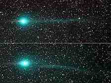 """Ein Komet im Vorbeiflug. Die Nasa hat im Staub des Kometen """"Wild 2"""" eine Aminosäure gefunden, einen """"Baustein des Lebens"""""""